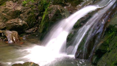 water flow waterfall side Stock Video Footage