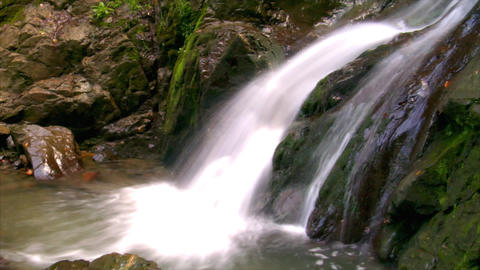 water flow waterfall side Footage