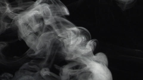 Smoke series: swirl Smoke up Stock Video Footage