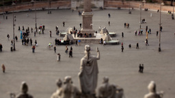 Piazza del popolo timelapse Tilt Shift Stock Video Footage