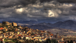 Italian old town timelapse HDR Stock Video Footage