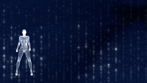 Blue Matrix Venus HD1080 25p Stock Video Footage