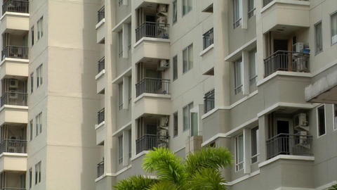 suicide building jump v2 medium Stock Video Footage