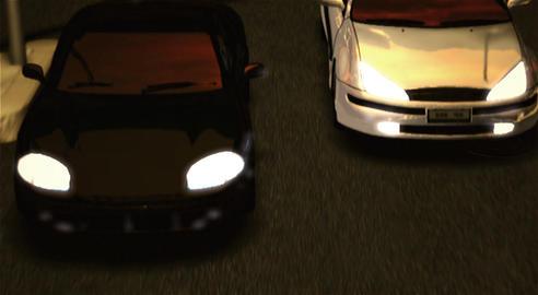 Street Cars' race วิดีโอสต็อก
