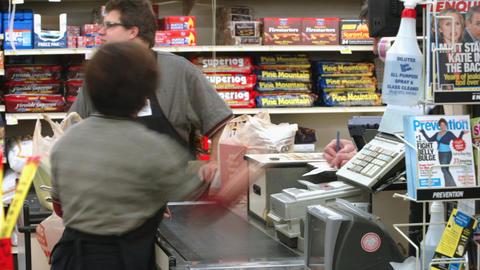 Supermarket timelapse 03 Stock Video Footage