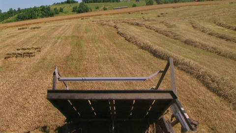 Square Baling Hay 02 Footage