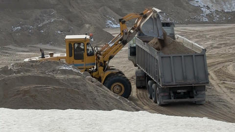 loading truck with sand Footage