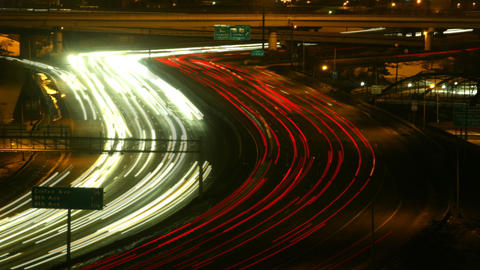 Highway at night timelapse 03 Stock Video Footage