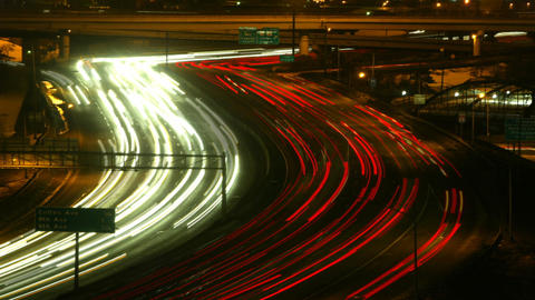 Highway at night timelapse 03 Footage