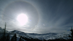 Sun ring timelapse Stock Video Footage