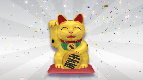 Beckoning Cat Big smile g sa CG動画素材