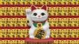 Beckoning Cat W Sa 2 stock footage