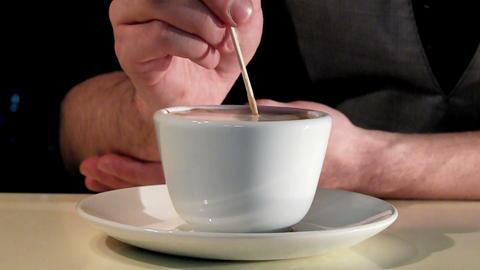 artistic making caffe latte Footage
