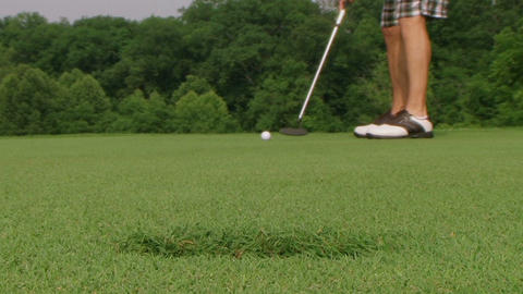 Golf Putt Hits Camera Stock Video Footage