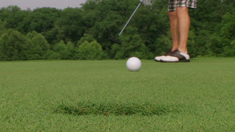 Golf Putt Hits Camera Footage