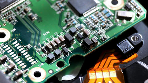 circuit macro view Stock Video Footage