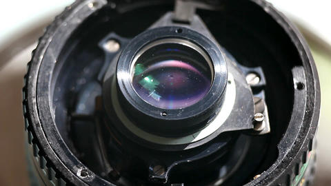 camera lens detail macro Stock Video Footage