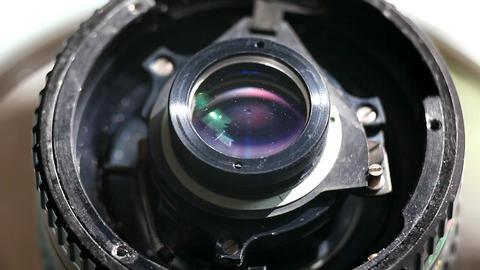 camera lens detail macro Stock Video Footage