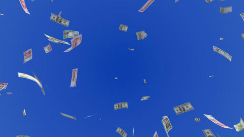 Money Dollar Euro Yen RMB L c Stock Video Footage