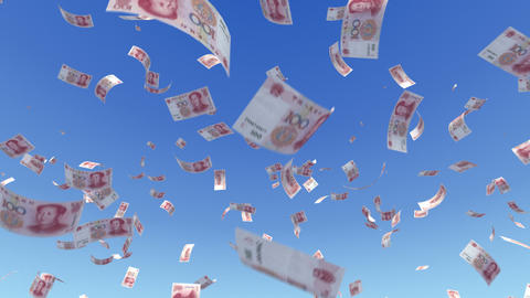 Money RMB L a Stock Video Footage