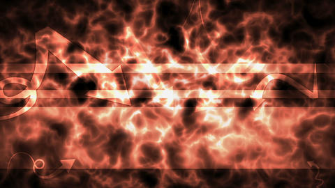 Fiery background with arrows showing the title place Stock Video Footage