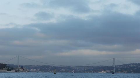Istanbul bosphorus bridge Footage