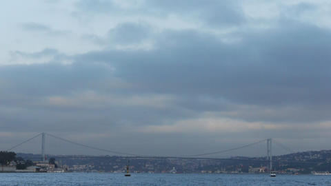 Istanbul bosphorus bridge Stock Video Footage