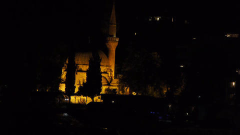 Mosque at night Stock Video Footage