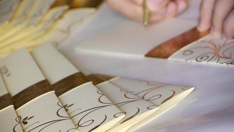 Wedding invitation card Stock Video Footage