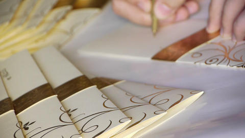 Wedding invitation card Stock Video Footage