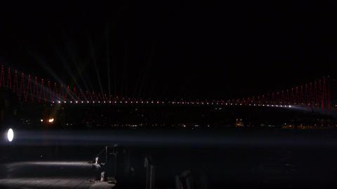 Decorated bridge Stock Video Footage