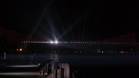 Decorated bridge Footage