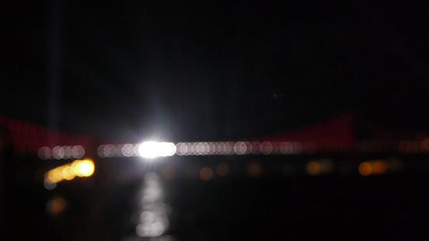 Decoreted defocus bridge Stock Video Footage