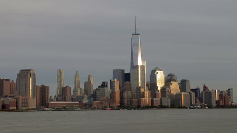 Day To Night Time-lapse Sequence Of Manhattan Skyl Footage