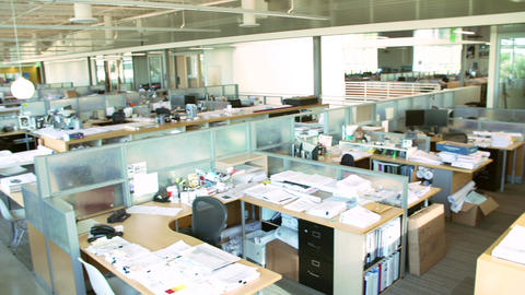Empty Modern Open Plan Office stock footage