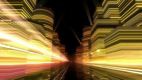Neon Light City F 1 Bb 4 4k stock footage