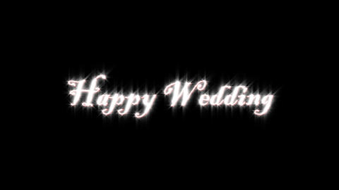Title Of Happy Wedding stock footage