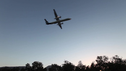 Plane Is Landing stock footage