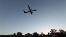plane is landing Footage