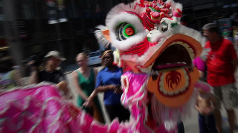 Chinese Dragon Dance stock footage