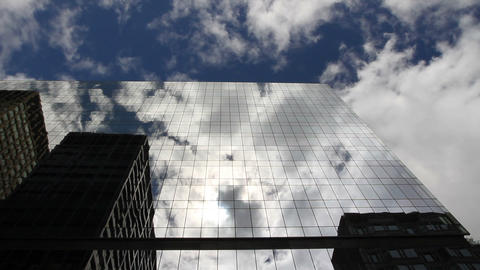 Clouds In Skyscraper Time Lapse 2 stock footage