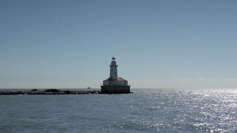 Lighthouse at Sea Footage