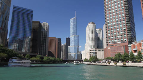 River Tour of Chicago Footage
