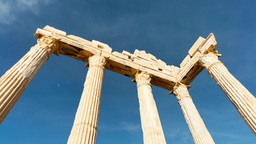 Greek columns, ancient ruins Footage