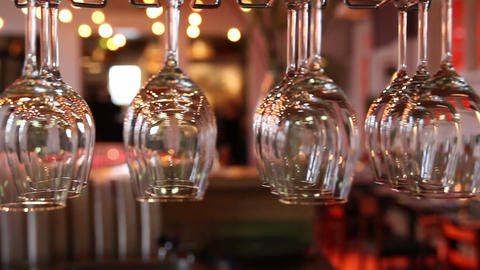 Slider Wine Glasses stock footage