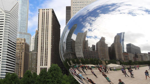 Chicago Reflection in The Bean Footage