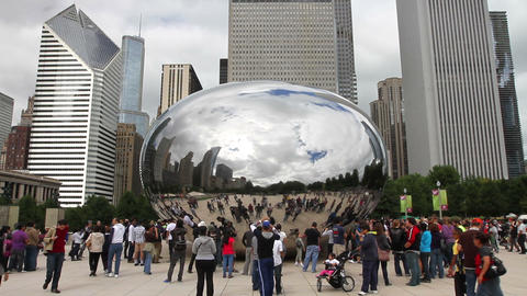 Cloud Gate In Chicago stock footage