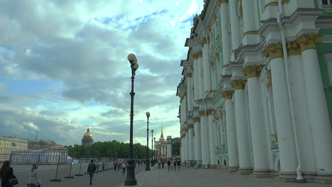 The palace square in st. Petersburg.4K Footage