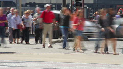 People Walking in City Time Lapse Footage
