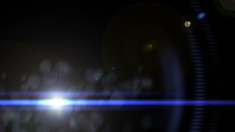 Anamorphic Lens Flare Footage